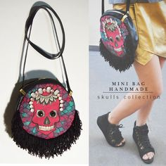 MINI BAG HANDMADE | SKULLS | FASHION  | STYLE | BOLSAS