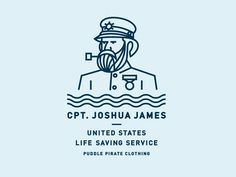 Another shirt design in the works for Puddle Pirate.   Joshua James was the most celebrated lifesaver in the world, credited with saving hundreds of lives from the age of 15 when he first joined th...