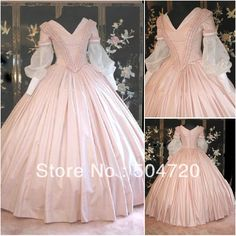 Freeshipping!19 Century Pink Civil War Southern Belle Gown evening Dress/Victorian Lolita dresses/scarlett dress US6-26 V-302 $139.00
