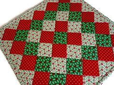 Christmas Quilted Table Topper Quilted by ForgetMeNotQuilteds