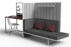A flatpack, modular, flexible furniture system that grows with your needs without taking up space!   Yanko Design Modern Spaces, Small Spaces, Flexible Furniture, Yanko Design, Modular Design, Space Saving, Storage Spaces, Flexibility, Living Spaces