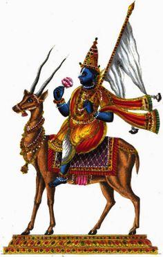 HiNDU GOD: VAYU DEVA , THE WIND GOD
