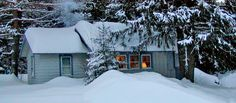 One of Lapland Lake's tupas: a cozy cottage in the Adirondacks.