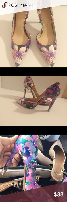 Jessica Simpson floral leather pointe pumps sz 6 Brand new with tags beautiful florals pumps size 6 Jessica Simpson Shoes Heels