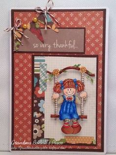 Twist of Faith challenge theme for you this week is: Harvest Time/Thanksgiving Your card creation should depict a Harvest . Girl Swinging, Harvest Time, Raggedy Ann, True Love, Your Cards, Thankful, Frame, Search, Sweet