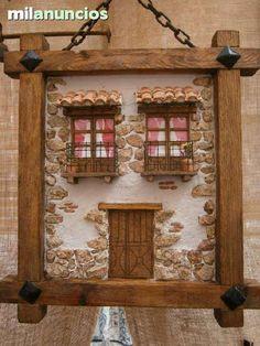 MIL ANUNCIOS.COM - Cuadros de fachadas rústicas artesanales 3d Painting, Stone Painting, Miniature Furniture, Dollhouse Furniture, Vitrine Miniature, Fantasy House, Driftwood Crafts, House Landscape, Miniature Crafts