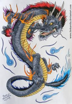 "I don't usually like ""Eastern"" style dragons but this one is pretty cool.  Japanese dragon tat"