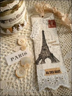 French and White bookmark