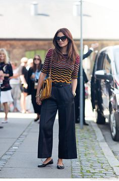 Funda Christophersen wearing a top from M Missoni, pants from Lovechild, shoes and bag from Chloé and sunglasses from Céline #StreetStyle