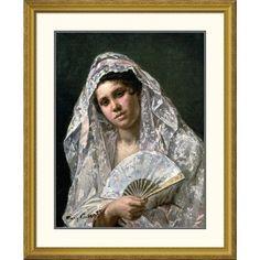 "Global Gallery 'Spanish Dancer' by Mary Cassatt Framed Painting Print Size: 40"" H x 32.85"" W x 1.5"" D"