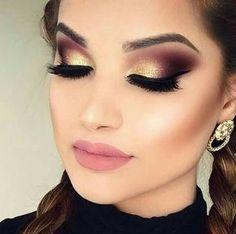 Gold and chocolate metallic Eyeshadow look