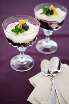 No-Bake Lemon Blueberry Tiramisu