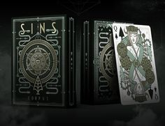 Custom poker size playing cards. Inspired by the 7 deadly sins, drawn with Thirdway Industries sharp and modern style.