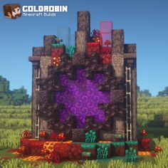 Is there a way to reset the Nether in the newer Minecraft for Xbox One? Casa Medieval Minecraft, Minecraft Portal, Minecraft Kunst, Minecraft Statues, Minecraft Banners, Minecraft Plans, Amazing Minecraft, Minecraft Room, Minecraft Decorations