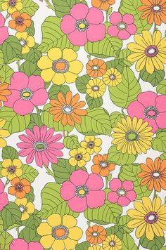 Lana | Floral wallpaper | Wallpaper patterns | Wallpaper from the 70s