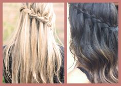 change up your hairstyle by trying out the new, trendy waterfall braid. Real Beauty, Hair Beauty, Beauty Makeup, Waterfall Plait, Hair Styles 2016, Long Hair Styles, Hair Repair, Cute Hairstyles, Hair Trends