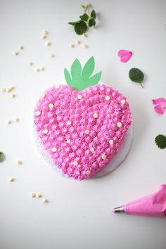 strawberry-cake-DIY by coco cake land
