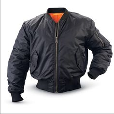 Flight Jacket Brand new... Medium in men...I'm a medium size women and it fits me..never worn.. Paid  $106.00 water repellent, reversible Jackets & Coats Utility Jackets