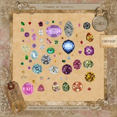 FREE CAJOLINE-SCRAP: Freebie - Embel. Pierres & Diamants - CU4CU