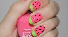 summer nails! #watermelon #nail #design