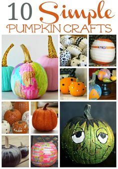 10 simple pumpkin crafts that dont involve carving --> YESSSS! I love these ideas because I (gulp) am not a fan of pumpkin carving! thank you @stacyofksw