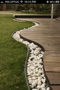 Idea for edging the driveway that can be driven on.