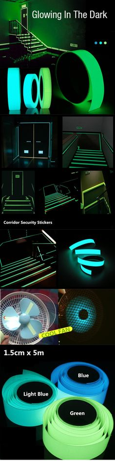 Luminous Tape Self-adhesive Green Blue Glowing In The Dark Safety Stage Home Decor Random/Humor/Quotes/ Childhood Memories Luminous Ta. Hm Deco, Glow Party, Spa Party, Pop Up Tent, Light Blue Green, Do It Yourself Home, Cool Gadgets, Latest Gadgets, Home Decor Accessories