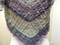 Crochet tutorial that teaches you how to crochet the Lion Brand crochet pattern called Falling Water shawl. You can find the written pattern on their site he...