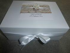 Luxury Large Wedding Keepsake Box Personalised Memory Box Ivory ...