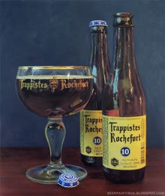 Trappist Rochefort 10 - This beer defines what is unique about Belgian beers. The ABV is what stands out through the intertwining balance of flavors. Fruity and sweet but with a nice bitter kick that makes taking another sip the merrier. The attention to detail in the flavors. Not to sweet, not to bitter, a strong amount of alcohol that adds a third dimension to this beer.