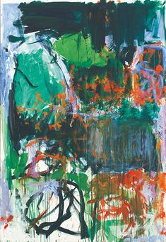 'Un jardin pour Audrey' (right panel of diptych) by Joan Mitchell, 1975