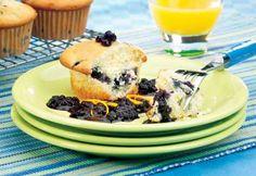 Petits gâteaux aux bleuets et à l'orange #paques #cupcakes