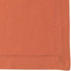 Orange Hemstitched Linen Tablecloth (used as a runner on buffet)
