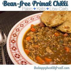 Bean-free Primal Chilli ~ www.thehappyhealthfreak.com ~ #keto #paleo #lowcarb #glutenfree #chilli