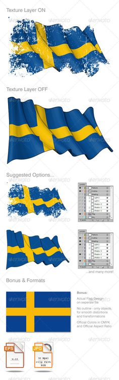 25 Best Swedish flag images in 2014 | Swedish flag, Flag