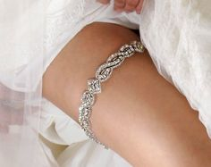 The Original Crystal Garter Now Ready To Ship by AlisaBrides