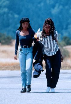 Poetic Justice scene with Janet Jackson and Regina King. Saw this movie in theaters circa 1993. Great times.