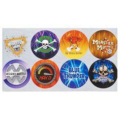 Monster Jam 3D Large Lollipop Sticker Sheet from BirthdayExpress.com