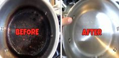 Here's how I cleaned my stainless steel pot after burning it pretty badly!