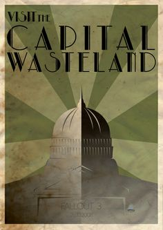 Fallout 3 Art Deco Poster Art Print