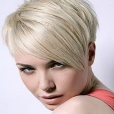 Cute pixie hairstyle with side swept fringe