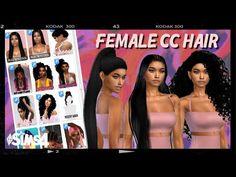 Sims 4 Black Hair, Sims 4 Cc Furniture, Sims 4 Cas, Hair A, Female, Don't Forget, Youtube, Content, Ideas