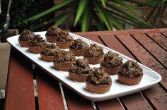 Carob and Hazelnut Praline Tarts Recipe - RecipeYum