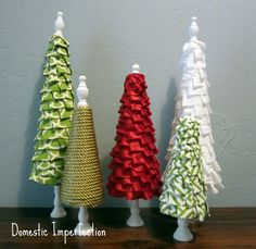 No Sew Ruffle Christmas Trees