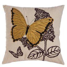 Found it at Wayfair - Baker Nature's Bounty Butterfly Indoor/Outdoor Throw Pillow