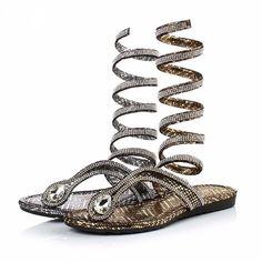 fc1d670da58 Gladiator Sandal women Boots 2016 New Arrive Snake Flat Flat Gladiator  Sandals