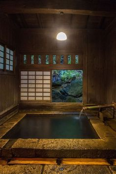Some of us are bathing, as well as some are bathing. Yet there are ways to be both, like what Japan discovered centuries ago when they created ofuro, or soaked. Here is an imaginative concept for a Japanese bathroom design that you can apply at home. Japanese Bath House, Japanese Style House, Japanese Bathroom, Traditional Japanese House, Japanese Sauna, Japanese Homes, Farmhouse Architecture, Japanese Architecture, Architecture Design