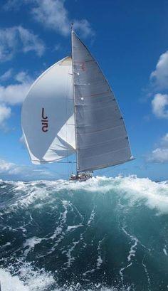 Wallpaper of boat & yacht sailing at the ocean and sea Yacht Boat, Big Waves, Ocean Waves, Sail Away, Set Sail, Am Meer, Tall Ships, Water Crafts, Sailing Ships