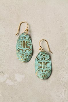 Teal Argentinian Earrings.....what doesn't sound better than that!