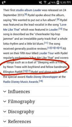 So apparently Wikipedia is referring to Ellington as Rydel's boyfriend now!!!!!